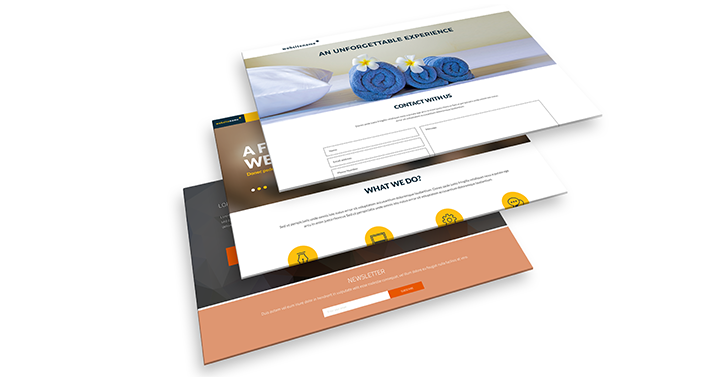 landing page software templates