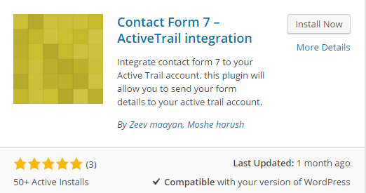 Contact Form 7 and ActiveTrail
