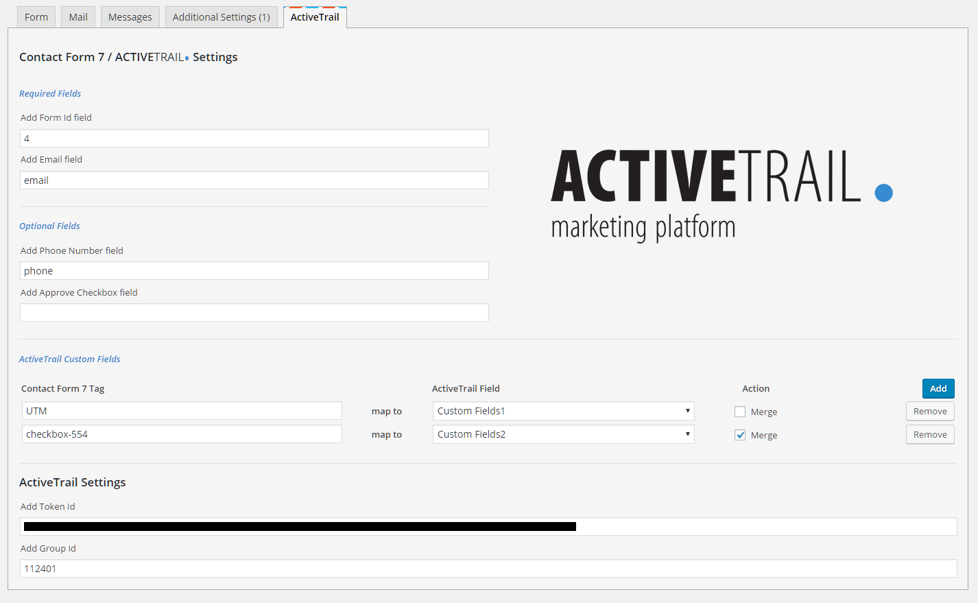 ActiveTrail – Contact Form 7
