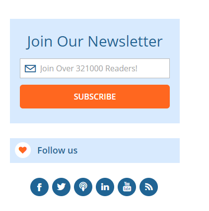 Problogger newsletter signup