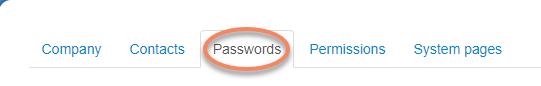 Passwords ActiveTrail