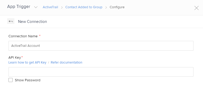 zoho flow new connection