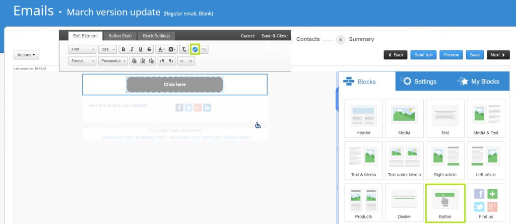 button activetrail version update en