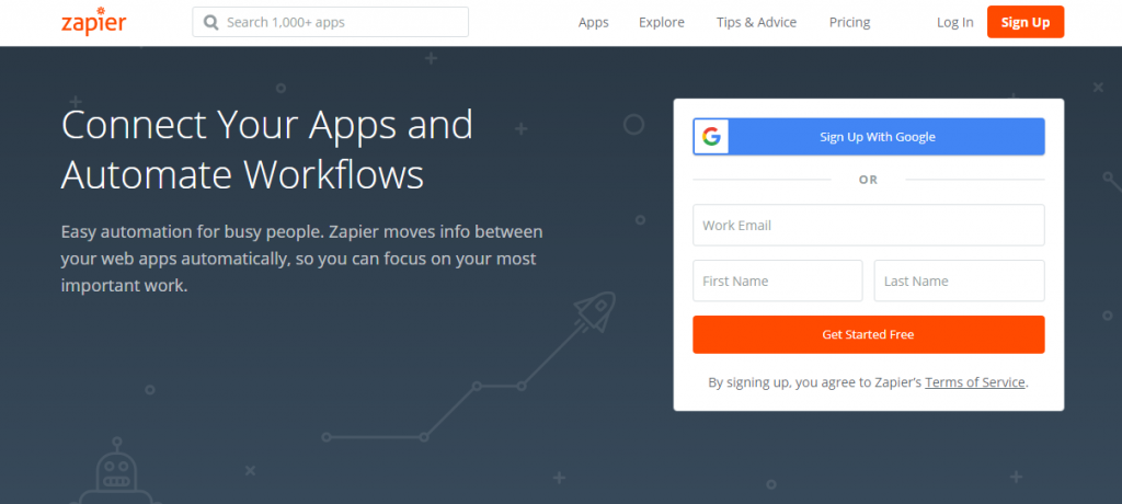 digital marketing tools Zapier