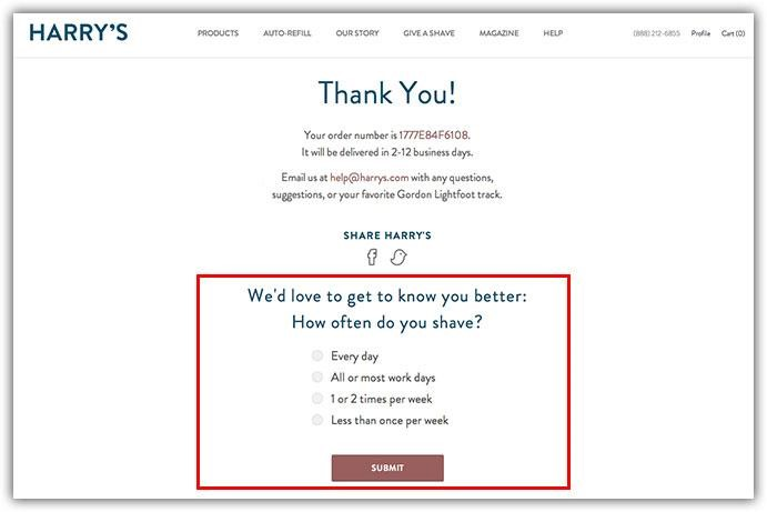 harrys email example email marketing