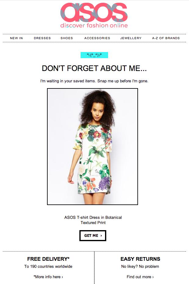 email marketing asos