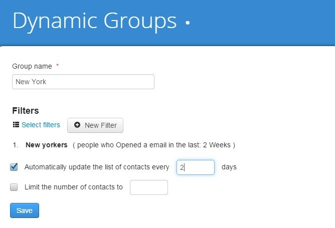 email markting blacklists dynamic groups
