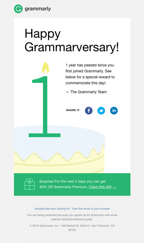 example subject lines grammarly