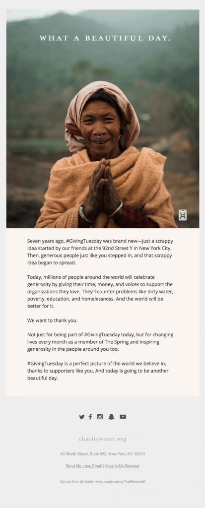 email marketing nonprofit example